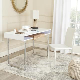 Safavieh Metropolitan White/ Chrome Computer Desk, Overstock.com
