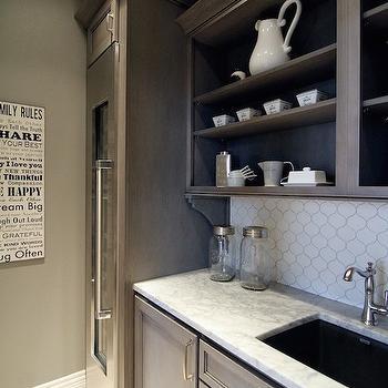 Butlers Pantry with Wine Fridge, Transitional, Kitchen, Neighborhood Builders