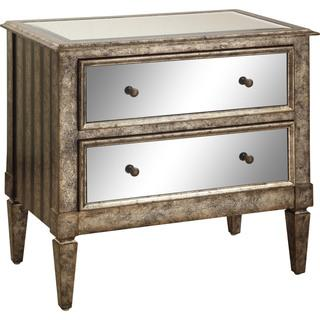 Powell Antique Silver and Black Crackle 2-drawer Mirrored Console, Overstock.com S