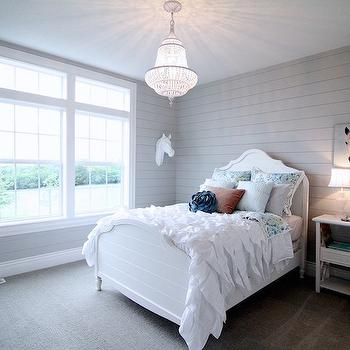 White and Gray Kids Bedroom, Transitional, Girl's Room, Neighborhood Builders