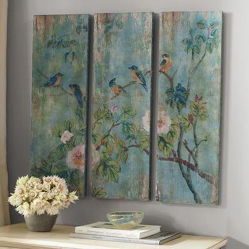 Bird & Branch Triptych Panels I Pottery Barn