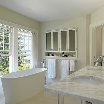 Cream Paint Colors, Transitional, Bathroom, Benjamin Moore Seapearl, Duffy Design Group