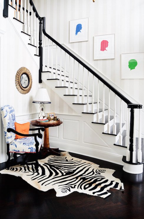 Art for Staircase Wall, Transitional, Entrance/foyer, Zhush