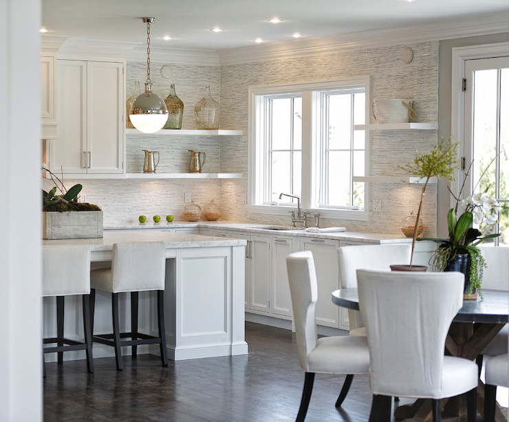 full height kitchen backsplash transitional kitchen