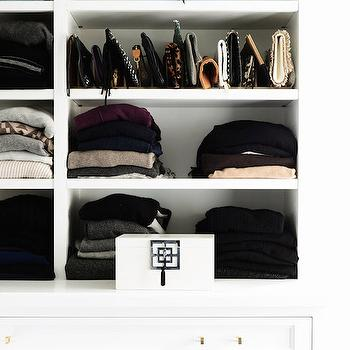 Closet with Sweater Shelves, Transitional, Closet, Domaine Home