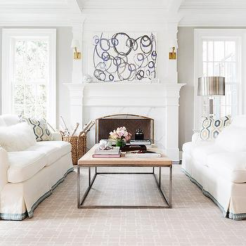 Sofas Facing Each Other, Transitional, Living Room, Domaine Home
