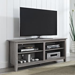 58-inch Ash Grey Reclaimed Wood TV Stand, Overstock.com