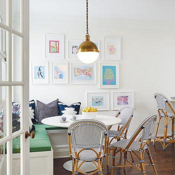 L Shaped Banquette, Transitional, Dining Room, Amie Corley Interiors