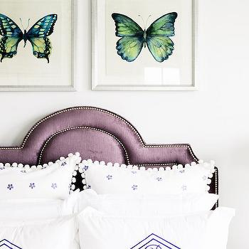 Purple Headboard, Transitional, Girl's Room, Domaine Home