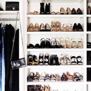Closet with Shelves for Shoes, Transitional, Closet, Domaine Home