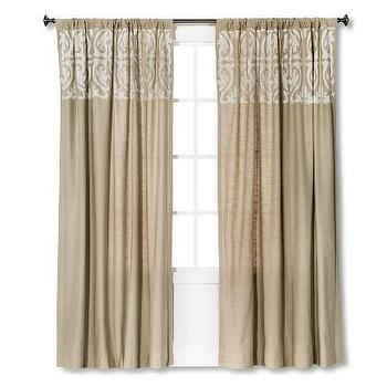 Threshold Scroll Embroidery Curtain Panel I Target