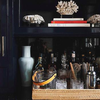 Blue Lacquer cabinets, Transitional, Kitchen, Domaine Home
