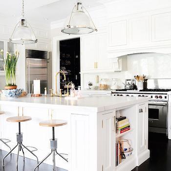 KItchen with Brass Hardware, Transitional, Kitchen, Domaine Home