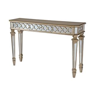 Mikala Mirrored Console Table with Center Drawer, Overstock.com