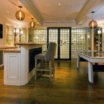 Basement with Wine Cellar, Transitional, Basement, Anik Pearson Architect
