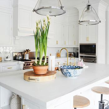 Kitchen with Brass Faucet, Transitional, Kitchen, Domaine Home