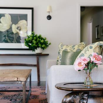 Elephant Table, Transitional, Living Room, Amanda Teal Design