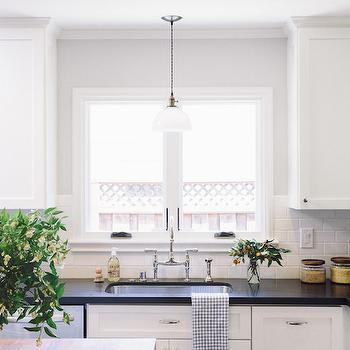 Light Over Kitchen Sinkl, Transitional, Kitchen, Amanda Teal Design