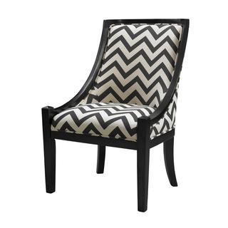 Linon Carnegie Black Chevron Chair, Overstock.com