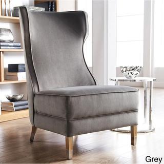 Sunpan Frances Fabric Winged Chair, Overstock.com