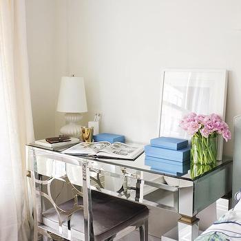 Mirrored Desk, Transitional, Bedroom, Kapito Muller Interior