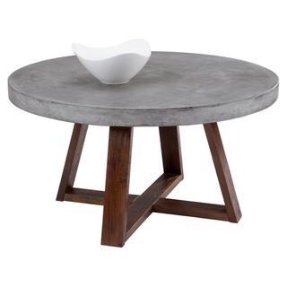 Sunpan Devons Rustic Concrete Round Coffee Table, Overstock.com
