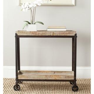 Safavieh Sally Natural Rolling Console Table, Overstock.com