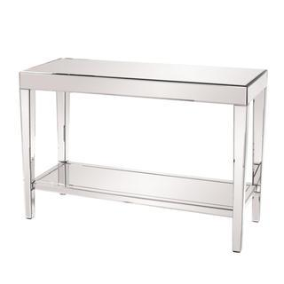 Allan Andrews Mirrored Console Table with Bottom Shelf, Overstock.com