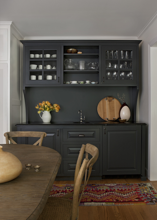 Black wet bar ideas country dining room cloth and kind - Bar ideas for dining room ...