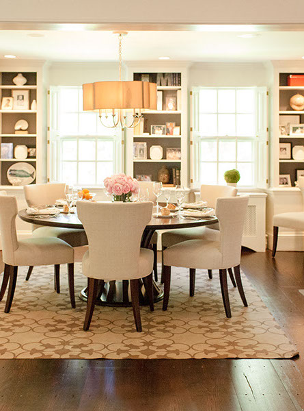 Round white dining room