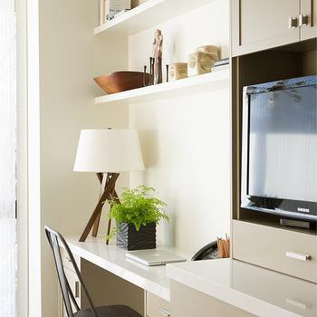 Shelves Over Desk Ideas, Transitional, Den/library/office, Cuff Home
