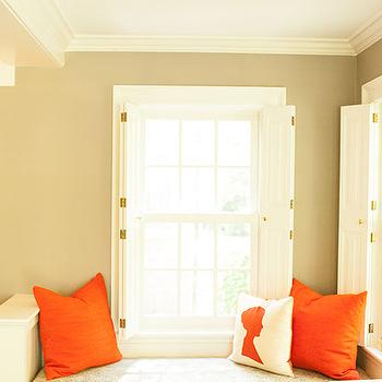 Reading Nook and Window Seat, Transitional, Den/library/office, Delicious Designs