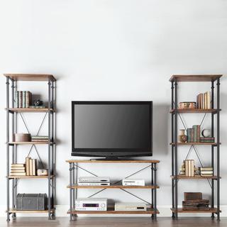 TRIBECCA HOME Myra Vintage Industrial Modern Rustic 3-piece TV Stand Set, Overstock.com