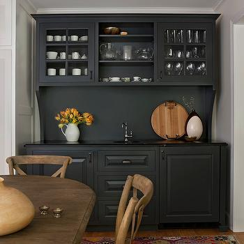 Black Wet Bar Ideas, Country, Dining Room, Cloth and Kind
