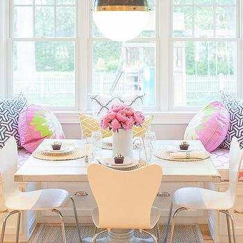Window Seat Banquette, Contemporary, Dining Room, Delicious Designs