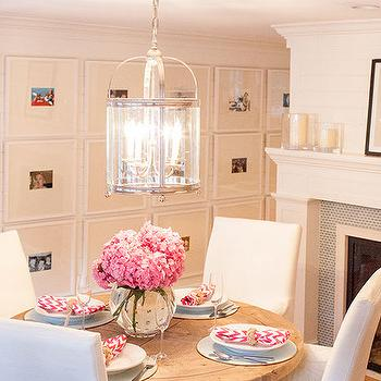 Fireplace in Dining Room, Transitional, Dining Room, Delicious Designs