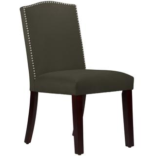 Made To Order  Grey Nail Button Arched Dining Chair, Overstock.com