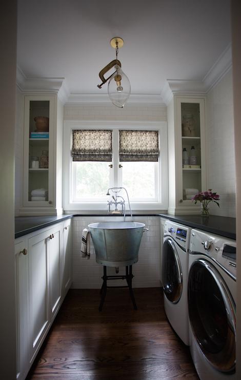 Narrow Laundry Room Ideas Transitional Laundry Room