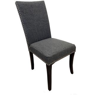 Charcoal Grey Nailhead Accented Side Chairs (Set of 2), Overstock.com