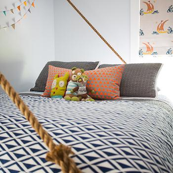 Suspended Rope Bed, Cottage, Boy's Room, Cloth and Kind