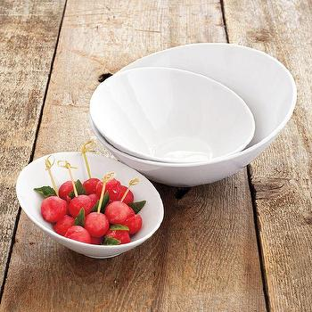 Blanc Slant Bowls, Sur La Table