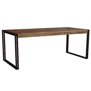 Timbergirl Reclaimed Wood and Metal Dining Table (India), Overstock.com