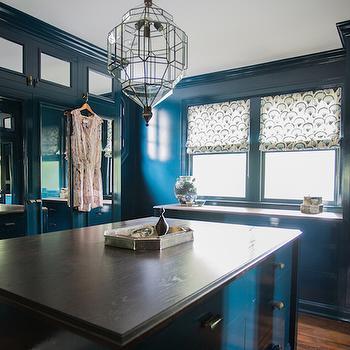 Peacock Blue Built Ins, Closet, Farrow and Ball Hague Blue, Cloth and Kind