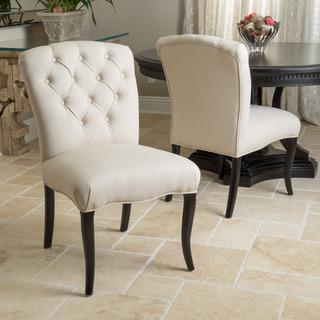 Christopher Knight Home Hallie Fabric Dining Chair with Pattern (Set of 2), Overstock.com