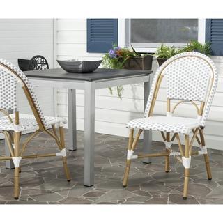 Safavieh Salcha Grey/ White Indoor Outdoor Stackable Side Chair (Set of 2), Overstock.com