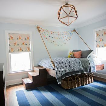 Hanging Rope Bed, Cottage, Boy's Room, Cloth and Kind