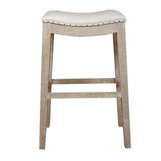 Colton Bisque French Linen Barstool, Overstock.com