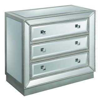 Christopher Knight Home 'Elsinore' Silvertone Mirrored Three-drawer Chest, Overstock.com