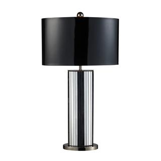 Shreve 1-Light Mirrored and Black Leatherette Table Lamp, Overstock.com