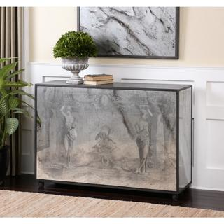 Antheia Ancient Stone Antiqued Mirror Console Table, Overstock.com